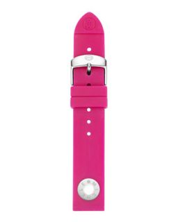 18mm Silicone Strap, Pink   MICHELE   Pink (18mm )