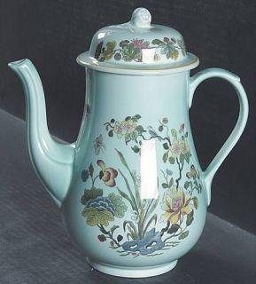 Adams China Ming Jade Coffee Pot & Lid, Fine China Dinnerware   Calyxware, Orien