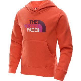 THE NORTH FACE Girls Multi Half Dome Pullover Hoodie   Size: Small, Rocket Red