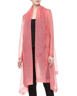 Womens Organza Clutch Coat, Rose Quartz   Donna Karan   Rose quartz (10)