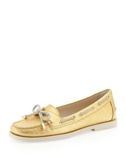 Blair Metallic Moccasin   MICHAEL Michael Kors   Gold (35.5B/5.5B)
