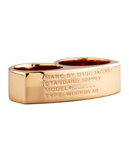 Standard Supply Double Ring, Rose Golden   MARC by Marc Jacobs   Rose gold (S/M)