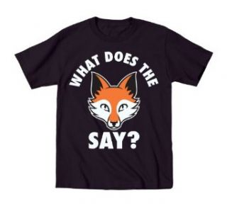 What Does the Fox Say? Funny Youth Short Sleeve T Shirt Clothing