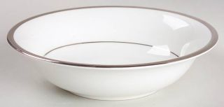 Wedgwood Carlyn Coupe Cereal Bowl, Fine China Dinnerware   White, Platinum Verge