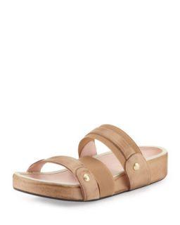 Amari Triple Strap Stretch Sandal, Nocciola   Taryn Rose   Nocciola (37.5B/7.5B)