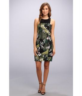 Adrianna Papell Sleeveless Dress w/ Cutout Neckline Detail Womens Dress (Green)