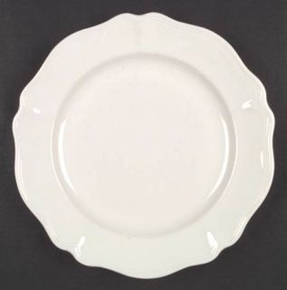Red Cliff Heirloom Dinner Plate, Fine China Dinnerware   All White,Scalloped