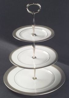 Royal Doulton Belvedere 3 Tiered Serving Tray (DP, SP, BB), Fine China Dinnerwar