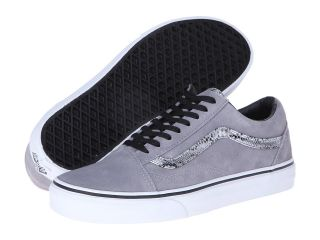 Vans Old Skool Frost Gray/Silver) Skate Shoes (Gray)