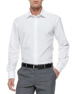 Mens Embroidered Cotton Shirt, White   Etro   White (44)
