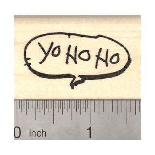 Yo Ho Ho, Pirate Saying Rubber Stamp, Speech Balloon
