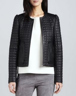 Womens Yetta Quilted Leather Jacket   Joie   Caviar (LARGE)