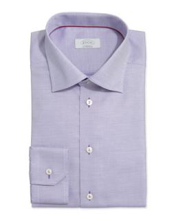 Mens Textured Solid Dress Shirt, Purple   Eton   Purple (18)