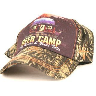 Camouflage Hunting Baseball Cap, Says Deer Camp Big Racks and Great Tales, Redneck, Ladies Man at Bar Hat, Adjustable to Fit Most Men Head Sizes, Hunting Headwear, Sun Protection: Everything Else