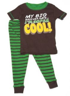 Carter's 2 Piece Pajama Set  My Big Brother saysI'm Super Cool! (18 Month): Clothing