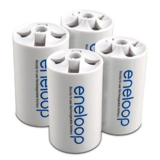 eneloop SEC DSPACER4PK D Size Spacers for use with AA battery cells: Electronics