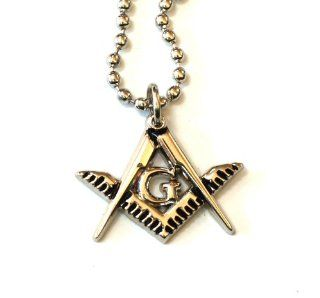 Masonic Square and Compasses Pendant for the Freemason: Jewelry