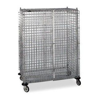 Metro SEC55DC Super Erecta Mobile Security Cage Hanging Shelves Industrial & Scientific