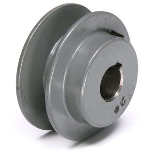 "TB Woods AK2258 FHP Bored to size V Belt Sheave, A Belt Section, 1 Groove, 5/8"" Bore, Cast Iron, 2.25"" OD, 11120 max rpm: V Belt Pulleys: Industrial & Scientific"
