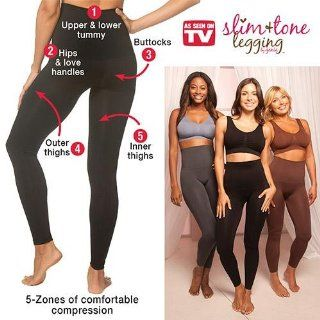 As Seen on TV Genie Slim N Tone Legging Black Large: Health & Personal Care
