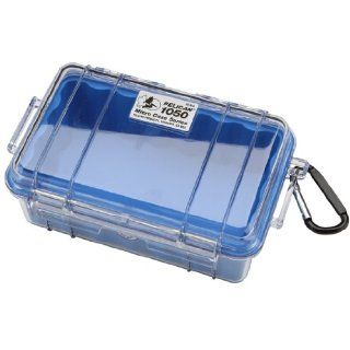 Pelican 1050 026 100 Small Case with Clear Lid and Carabineer (Blue) Camera & Photo
