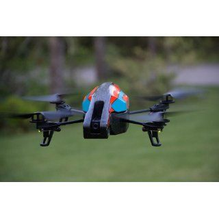 Parrot AR.Drone 2.0 Quadricopter Controlled by iPod touch, iPhone, iPad, and Android Devices  Orange/Blue : Hobby Rc Helicopters : MP3 Players & Accessories