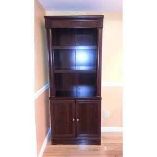 Sauder Palladia Library with Doors, Select Cherry   Bookcases