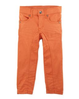 Bright Slim Leg Pants, Orange, 12 24 Months