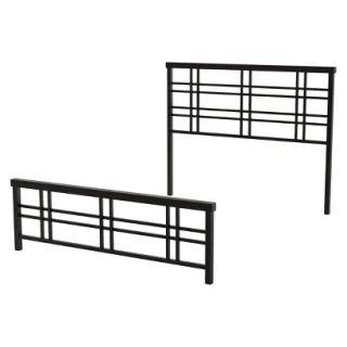 Queen Bed: Amisco Heritage Metal Bed   Brown