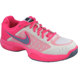 NIKE Womens Air Cage Court Tennis Shoes   Size: 6, Ivory/pink