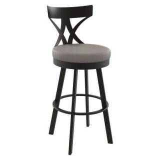 Barstool: Amisco Washington Counter Stool   Brown