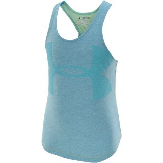 UNDER ARMOUR Girls Qualifier Tri Blend Tank Top   Size: XS/Extra Small, Teal
