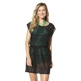 Merona Womens Crochet Coverup Dress  Black S