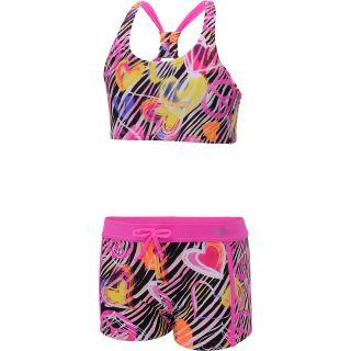 LAGUNA Girls Wild Zebra 2 Piece Swimsuit   Size: 10, Pink/zebra