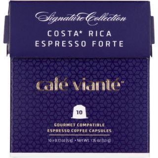 Café Viante 80 Count Costa Rica Espresso Forte Capsules for Nespresso