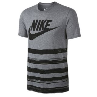 Nike Flow Motion Futura T Shirt   Mens   Casual   Clothing   Carbon Heather/Carbon Heather
