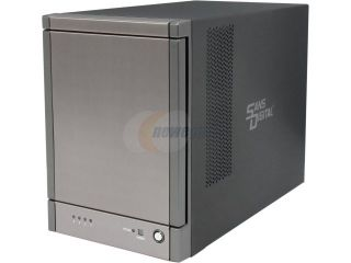 "SANS DIGITAL TR4X6G JBOD (RAID Supported via Controller Card) 4 x Hot Swappable 3.5"" 3.5"" Drive Bays 1 x Mini SAS (SFF 8088) TowerRAID 4 Bay 6G SAS / SATA Modularize JBOD Storage Enclosure (Black)"
