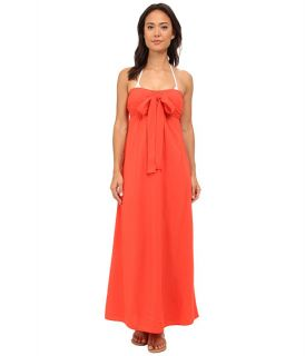 Tommy Bahama Rayon Bandeau Maxi Dress Cover Up Hot Spice