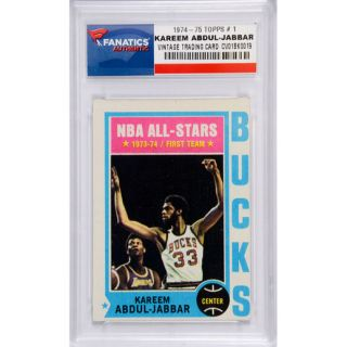 Kareem Abdul Jabbar Milwaukee Bucks 1974 75 Topps #1 Card