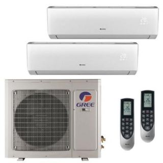 GREE Multi 21 Zone 24,000 BTU 2 Ton Ductless Mini Split Air Conditioner with Heat, Inverter, Remote   230 Volt/60Hz MULTI24HP201