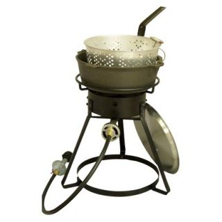 King Kooker® Bolt Together Outdoor Cooker with Cast Iron Pot Package