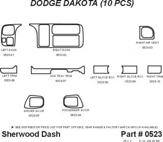 1997 Dodge Dakota Wood Dash Kits   Sherwood Innovations 0523 CF   Sherwood Innovations Dash Kits