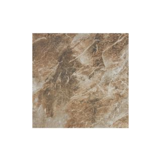 FLOORS 2000 9 Pack Villa Rica Coffee Glazed Porcelain Floor Tile (Common: 13 in x 13 in; Actual: 13.123 in x 13.123 in)