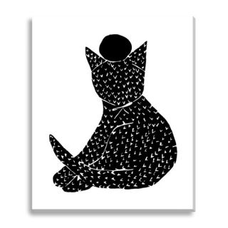 Black Kitty by Kate Roebuck Graphic Art on Canvas