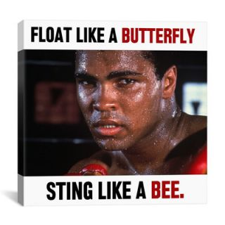 iCanvas Muhammad Ali Float like a Butterfly Sting like a Bee Graphic