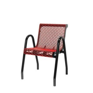 Ultra Play 18 in. Diamond Red Portable Commercial Park Contour Food Court Chair PBK953 VR