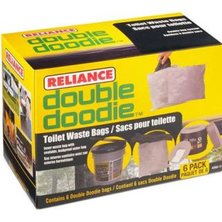 Reliance Double Doodie Toilet Waste Bag with Bio Gel