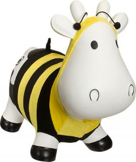 Trumpette Howdy Bouncy Rubber Cow with Bumble Bee Costume