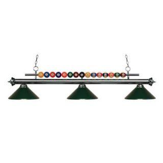 Filament Design Kerstin 3 Light Gun Metal Billiard Light CLI JB048872