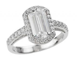 Tacori IV Diamonique Epiphany Emerald Cut Ring —